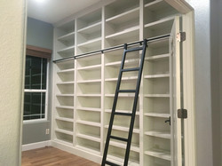 Rolling Ladder Built In Bookcases
