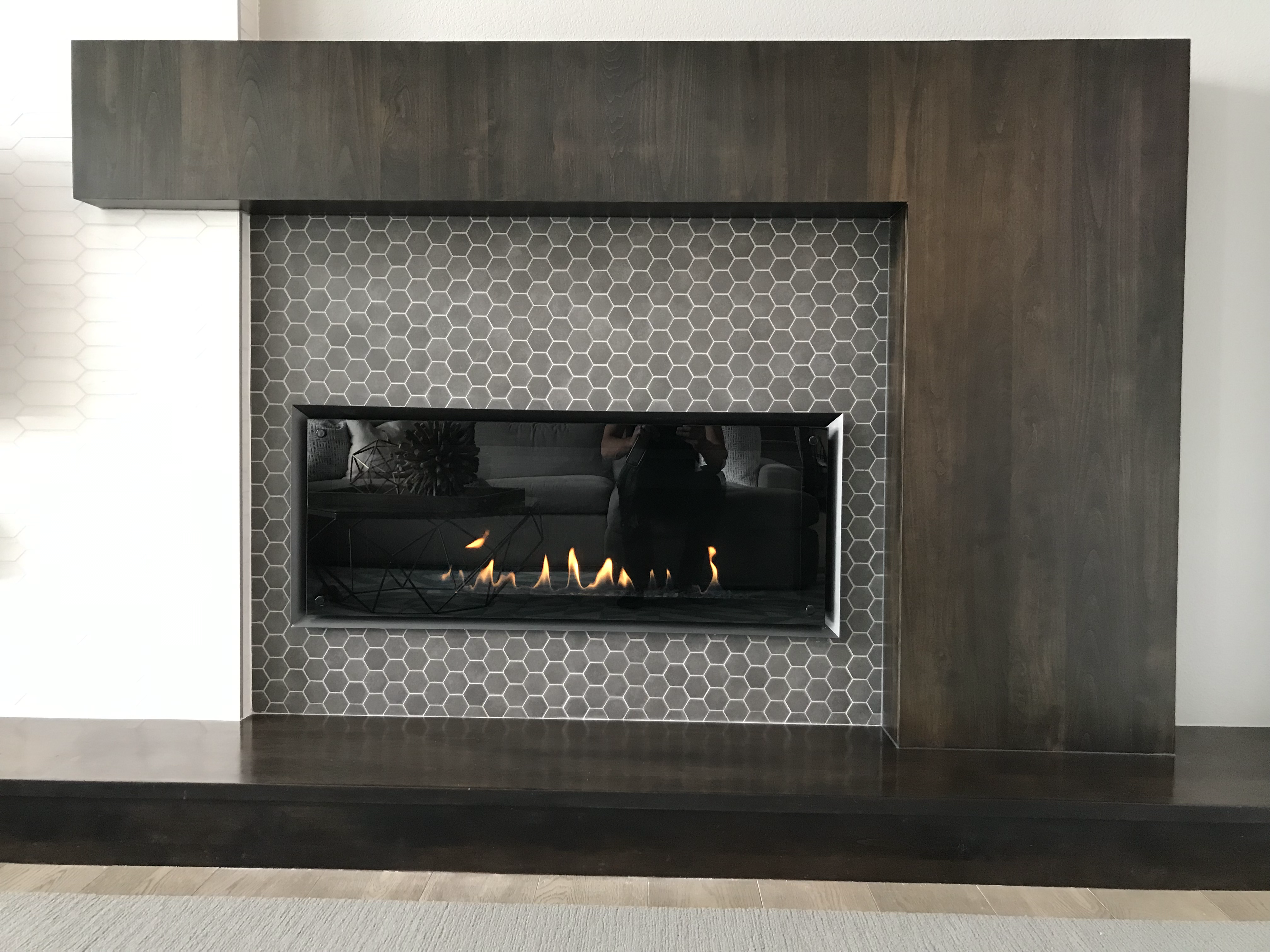 Modern Fireplace Wrap