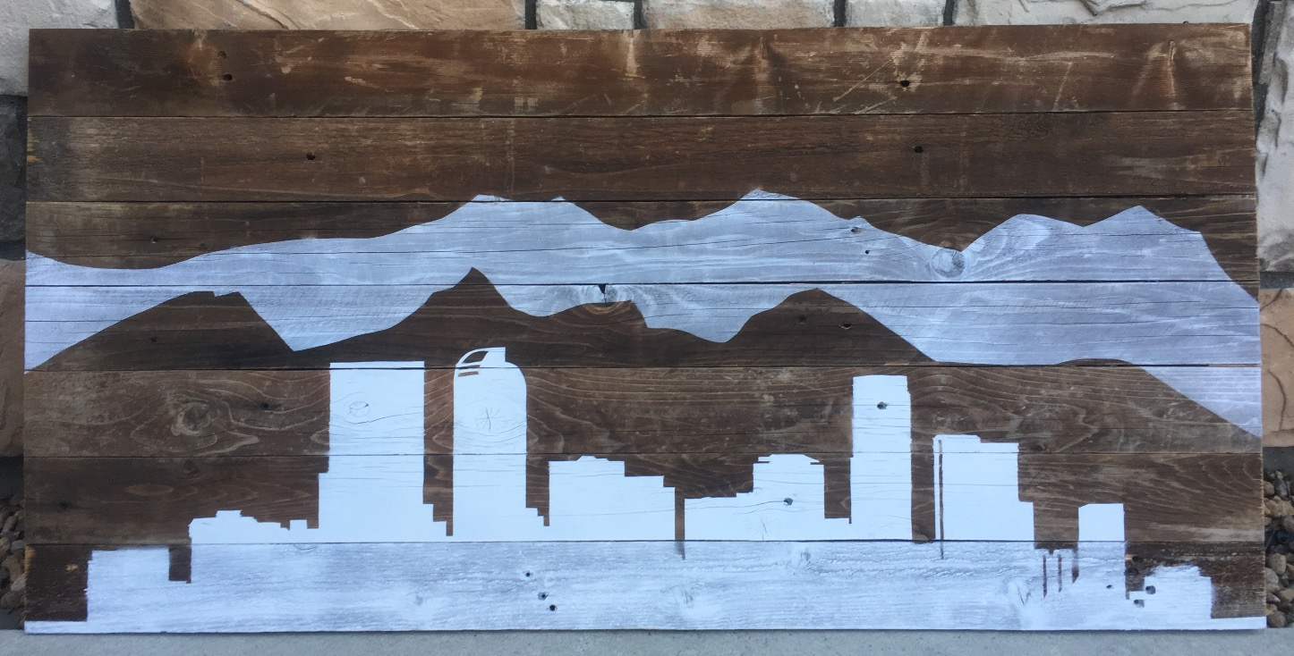 Denver Skyline Wall Mount