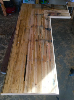 Reclaimed Trailer Bed Table