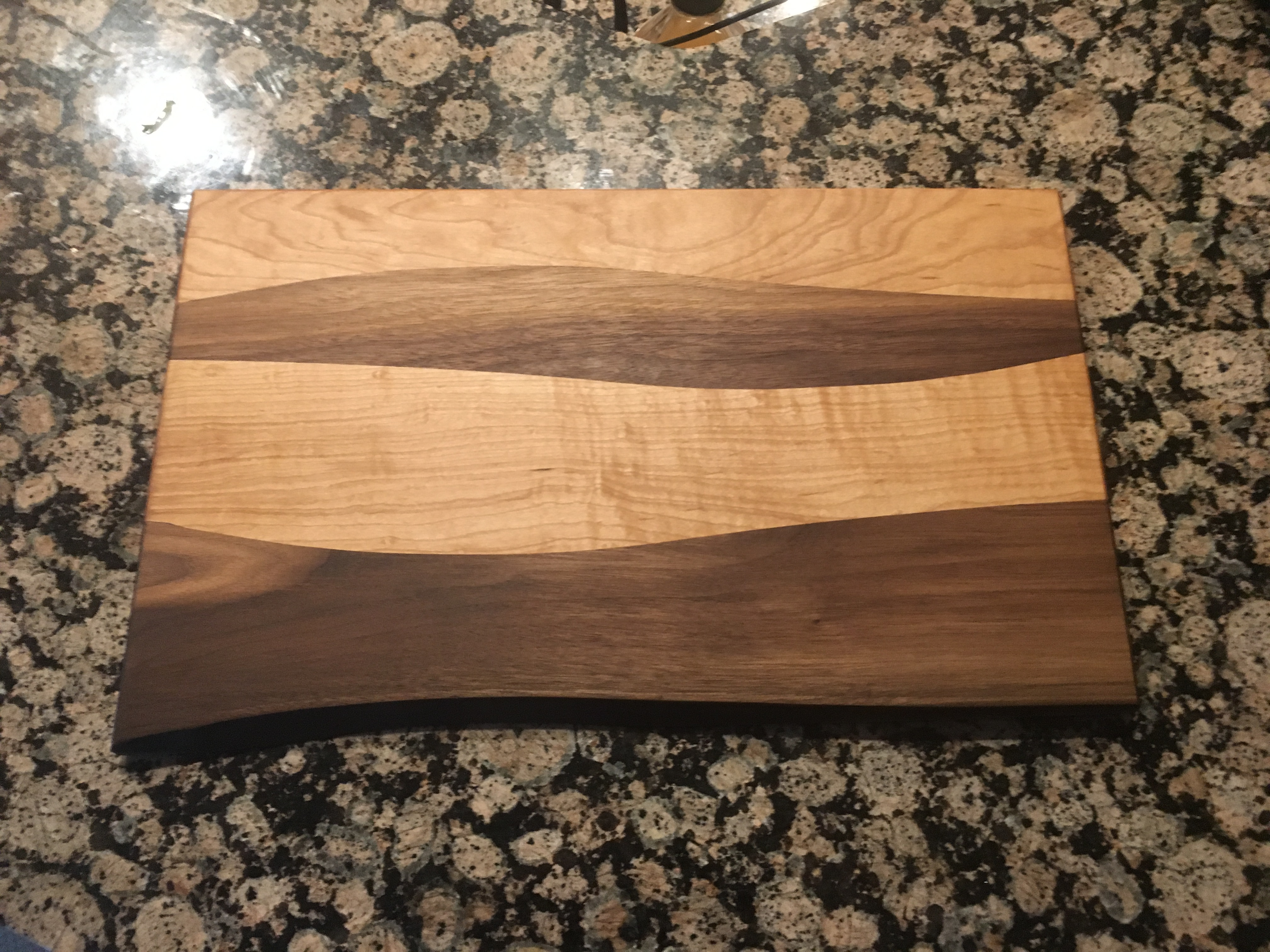 Walnut/Maple Wave Cutting Board