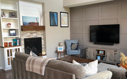 Fireplace and Wainscoting