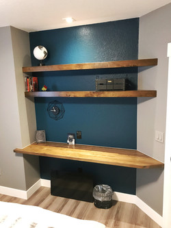 Guest Room Desk and Shelving