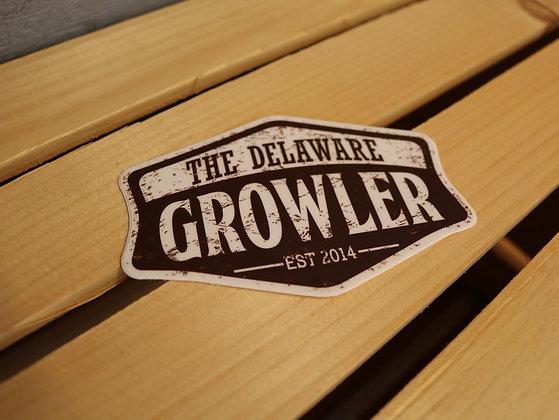 Delaware Growler Sticker