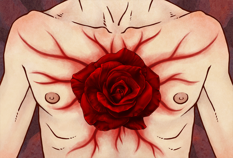 heart of a rose