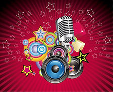 Vector Music Background with Speaker and
