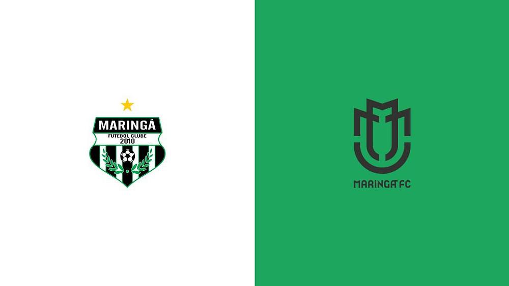 Assim como seu rival de estado, o Maringá mudou por completo seu escudo.