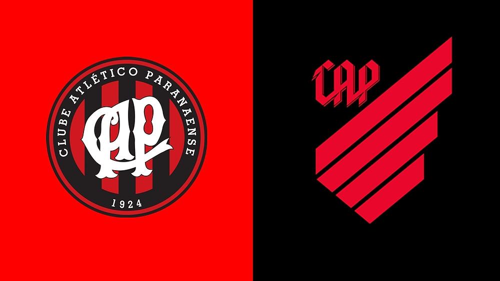 Novo escudo do Athletico deixou o formato redondo e a maioria das informações para trás.