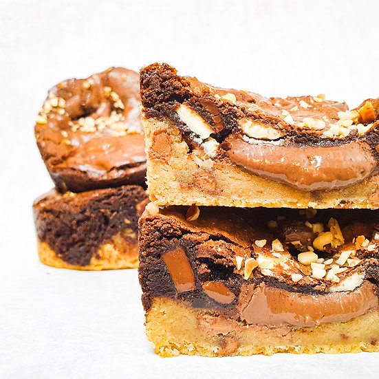 - Nutella Brookie Pie