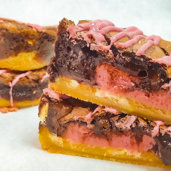 - Ruby Fudge Brookie Pie