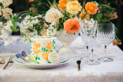 Orange and Green Wedding Inspiration at Vibiana