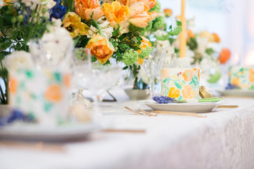 Orange and Green Wedding Inspiration at Vibiana
