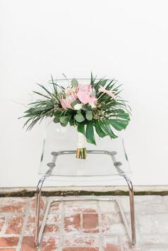 Tropical Wedding Bouquet at Alcazar Palm Springs