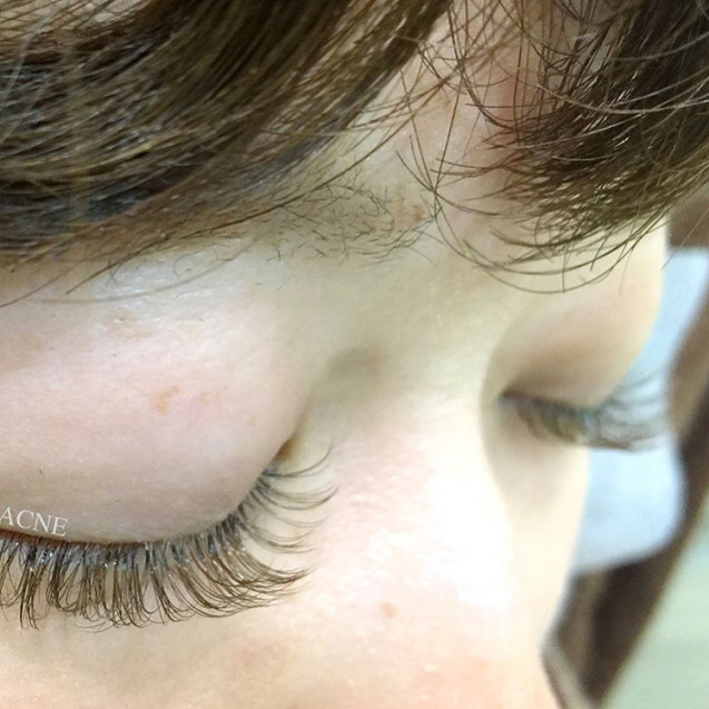 Single Length Brown Lashes