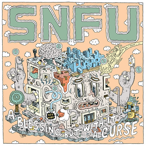 """SNFU - A Blessing But With It A Curse EP 12"""""""