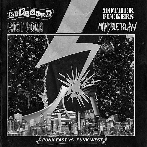 Punk East vs Punk West - Ripcordz/Riot Porn/Motherfuckers/Mandible Klaw Split LP