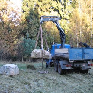 Příprava pro stavbu velkého kamenného kruhu