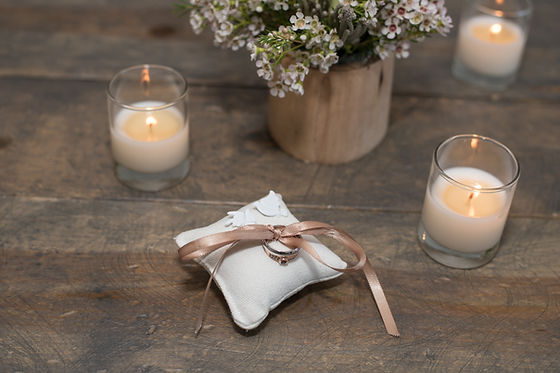 Rustic Chic Chicago Wedding Ring Bearer Pillow