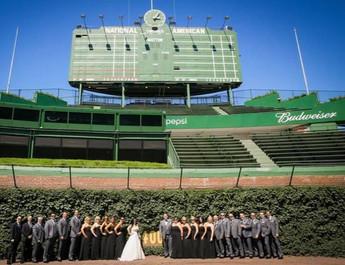 Bridal Party at Wrigley Field