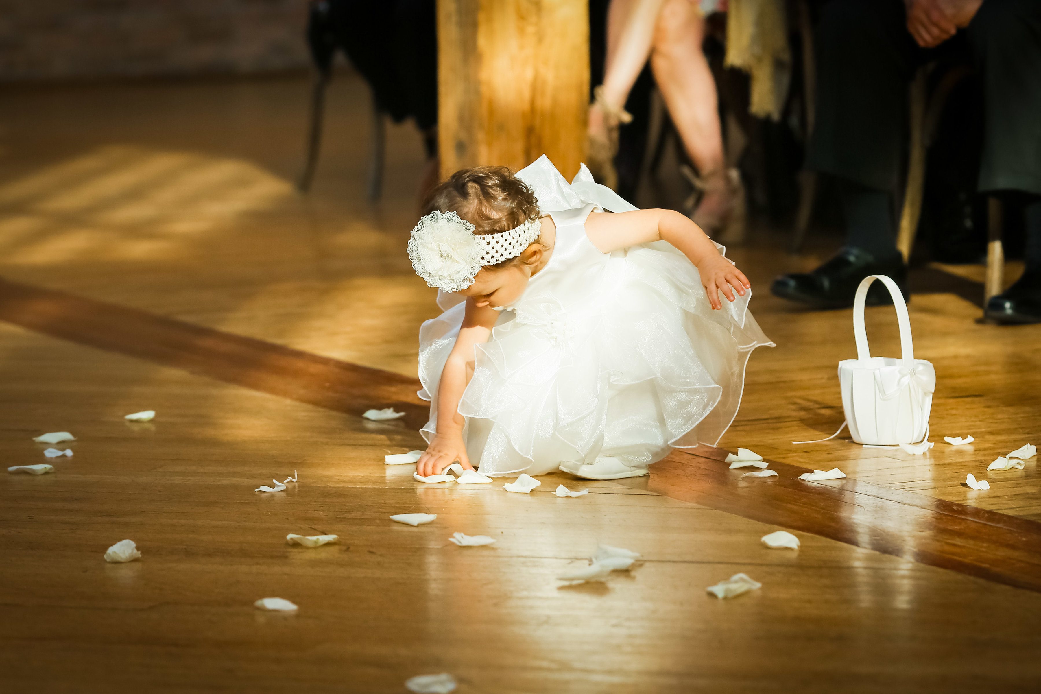 Flower Girl cleaning up