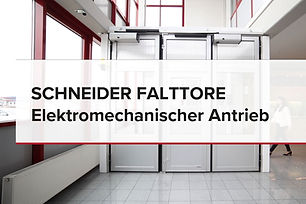 Video Falttore elektro-mechanischem Antrieb
