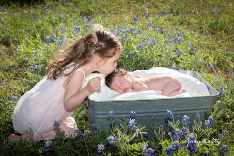 Newborn in Bluebonnets