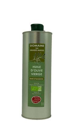 Huile d'olive bio 1L, goût à l'ancienne