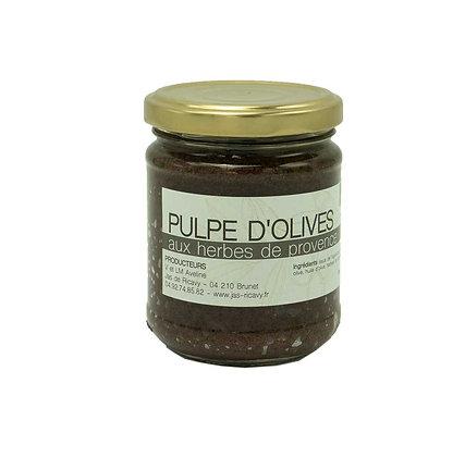 Pulpe d'olives aux herbes de Provence