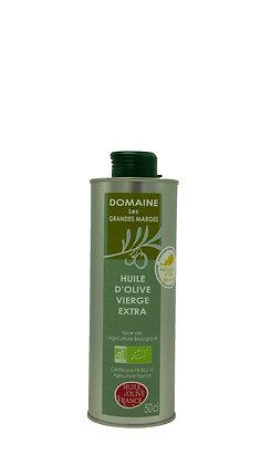 Huile d'olive bio 50cl, Fruité vert, goût intense