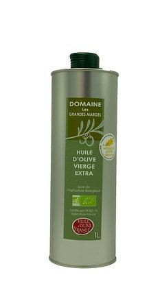 Huile d'olive bio 1L, Fruité mûr, goût subtil