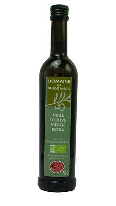 Huile d'olive bio 50cl, Fruité mûr, goût subtil
