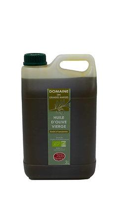 Huile d'olive bio 3L, goût à l'ancienne