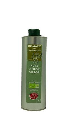 Huile d'olive bio fruité mûr, goût subtil 75cl