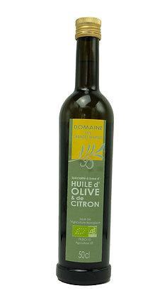 Huile d'olive et de citron, 50cl