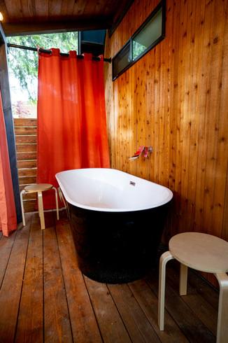 Bathtub patio