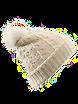 Mütze mit Bommel  weiß