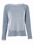 U-Boot-Pullover mit Glanz-Effekt blau grau