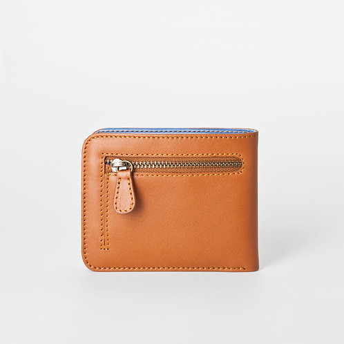 Men Wallet with Zip caramel  LOST&FOUND