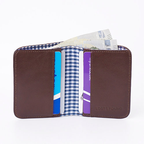 Cash and Cards Wallet chocolate     LOST&FOUND