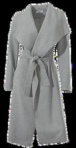 femininer Wollmantel in grau