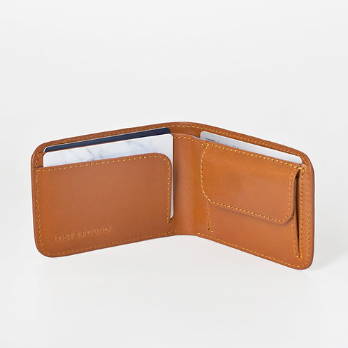 Men Wallet slim caramel    LOST&FOUND