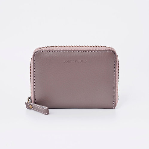 Zip Around Wallet Small Pale Stone    LOST&FOUND