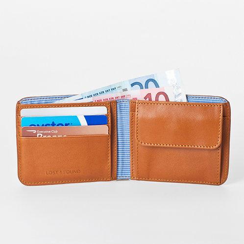 Männerportemonnaie mit Kleingeldfach caramel von LOST&FOUND