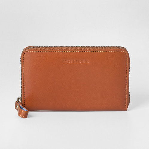 Zip Around Wallet Medium Caramel von LOST&FOUND