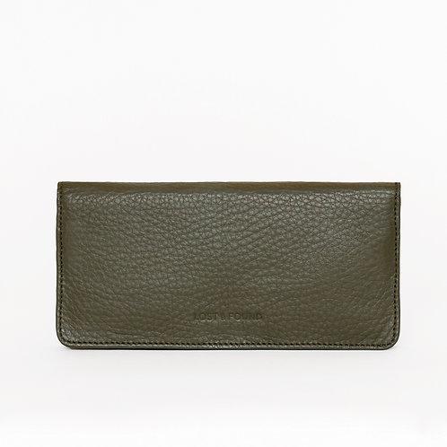 Slim Wallet Olive   LOST&FOUND