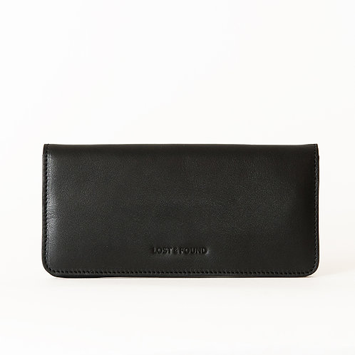 Slim Wallet black  LOST&FOUND
