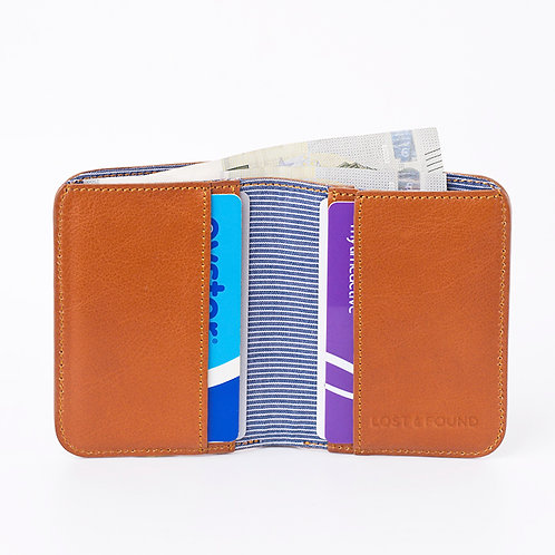 Cash and Cards Wallet caramel     LOST&FOUND