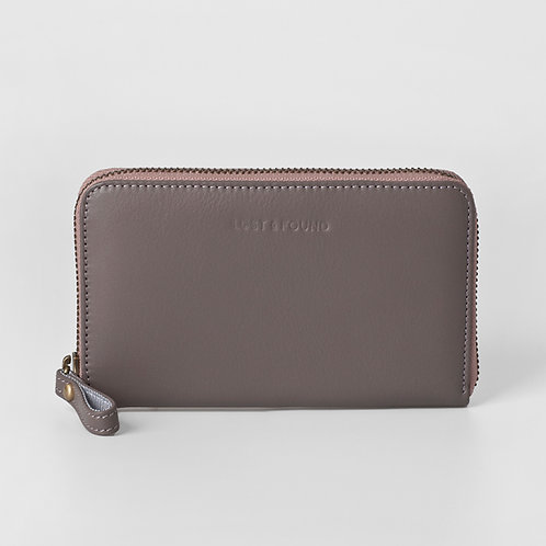 Zip Around Wallet Medium Pale Stone von LOST&FOUND