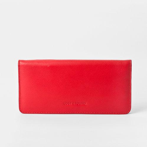 Slim Wallet Tangerine Red von LOST&FOUND
