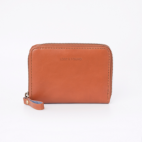 Zip Around Wallet Small Caramel von LOST&FOUND